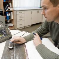 Metāla izstrādājuma ultraskaņas defektoskopija