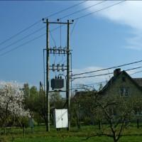 Sadales tīkls AS 0.4 kV overhead conductor line and 0.4 - 20 kV transformer Substation