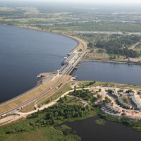 Latvenergo AS Riga HES from a bird's-eye view